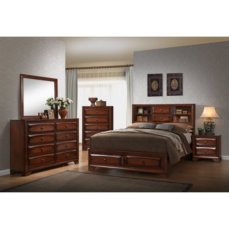 Home Source Queen Bed/Dresser/Mirror/Nightstand