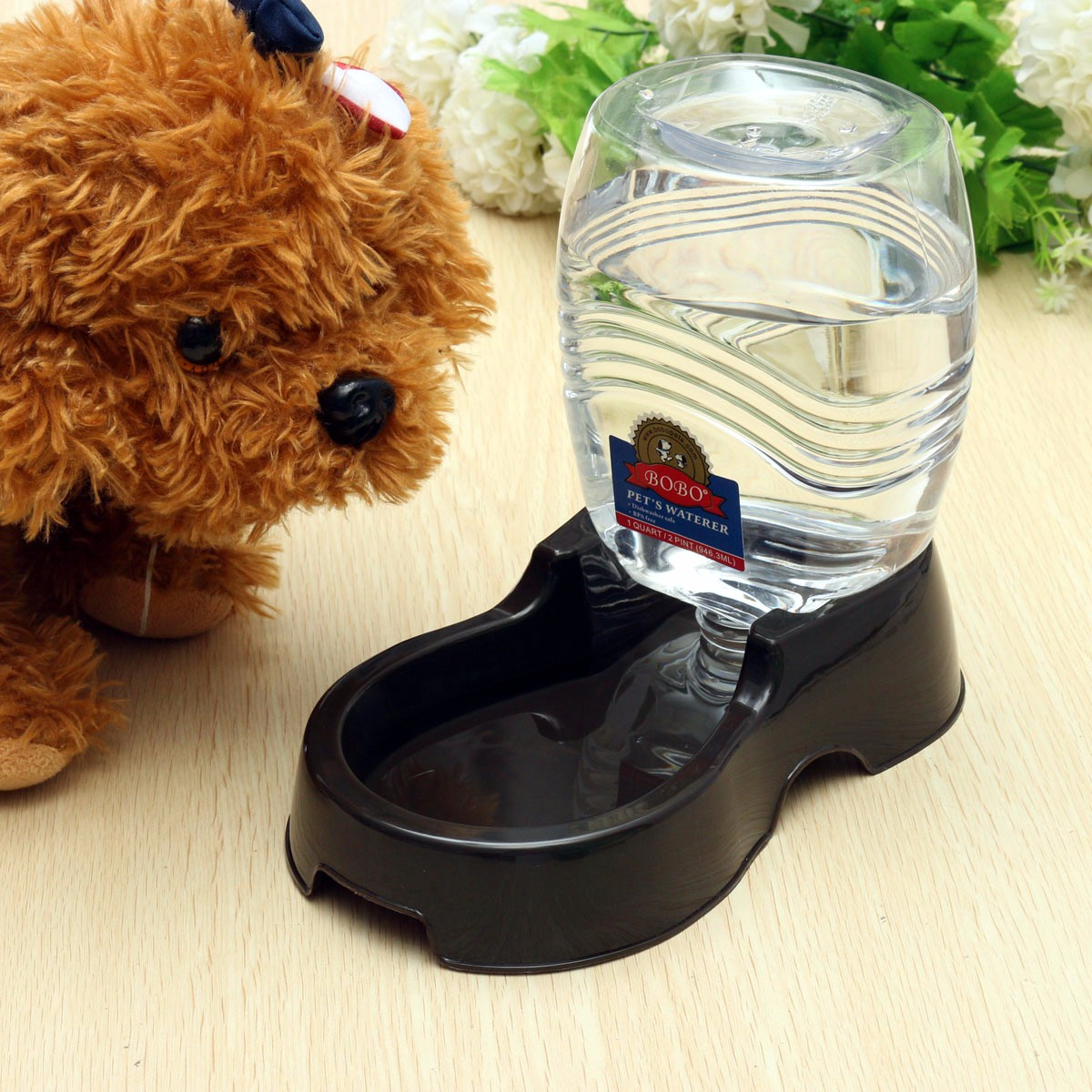 Pet Water Dispenser Station, Auto Replenish Gravity Waterer Drinking Bottle Bowl Dish automaticwaterer Portable Stand for Dog Cat Animal