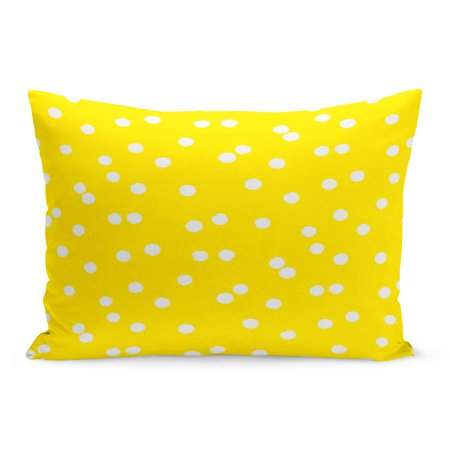 ECCOT Ditsy Polka Dot Scattered Small Circles in Yellow Gold Pillowcase Pillow Cover Cushion Case 20x30 inch