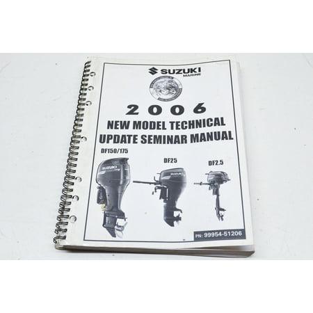 Suzuki 99954-51206 2006 Model Technical Update Seminar