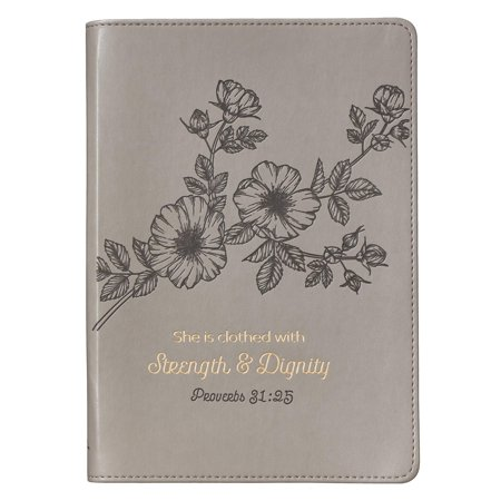 Journals Slimline Lux-Leather Flexcover Strength & Dignity Mauve