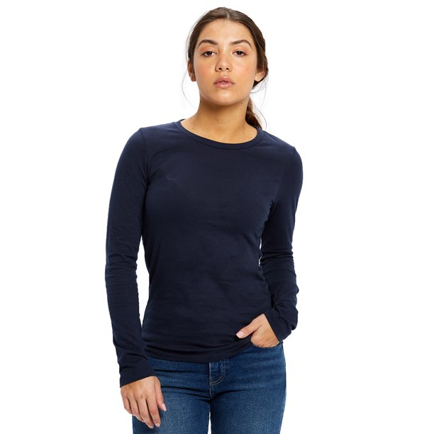 US Blanks Ladies' 4.3 oz. Long-Sleeve Crewneck - US190