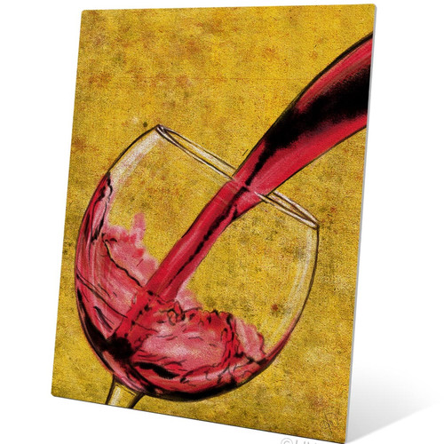 Click Wall Art Pour of Red Wine Painting Print Plaque