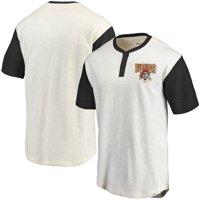 Pittsburgh Pirates Fanatics Branded True Classics Henley T-Shirt - Cream/Black