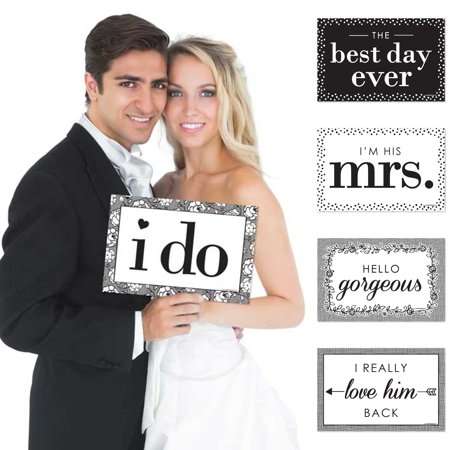 I Do – Wedding Announcement Photo Prop Kit – 10 Count