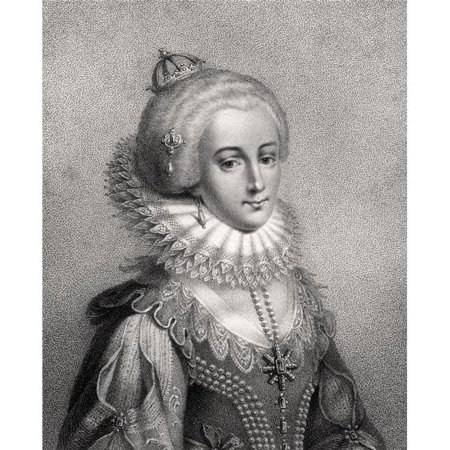Posterazzi DPI1862462 Elizabeth Queen of Bohemia 1596 - 1662 Electress Palatine Born Princess Elizabeth Stuart of Scotland Daughter of James I Poster Print, 13 x 16