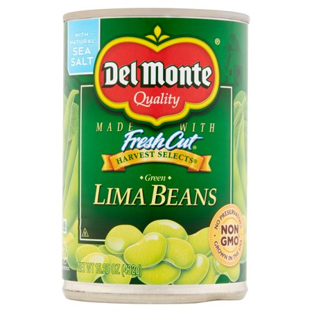 Del Monte Quality Harvest Selects Green Lima Beans  15 25 Oz