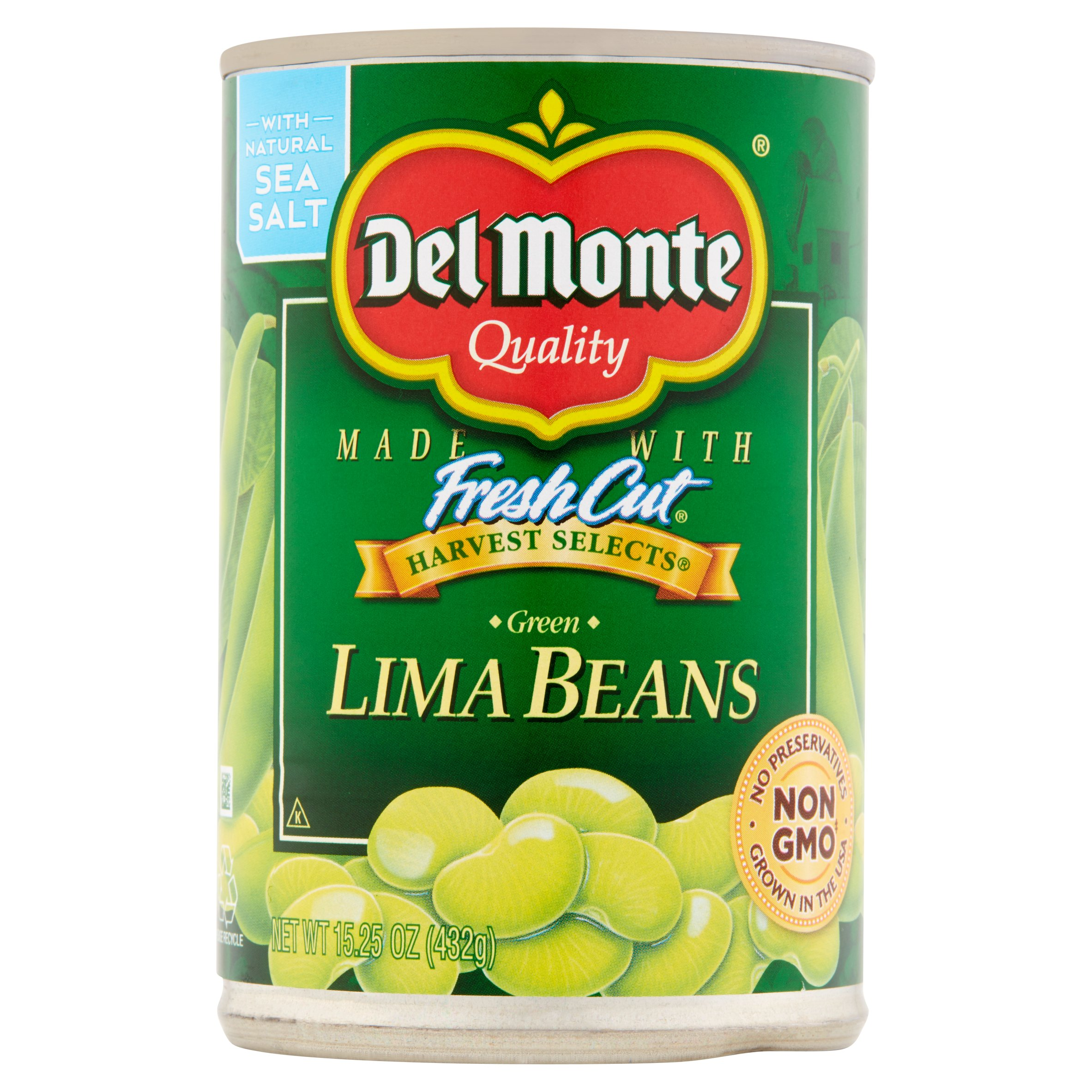 Del Monte Quality Harvest Selects Green Lima Beans, 15.25 Oz