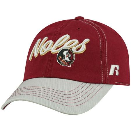 Florida State Seminoles Head (Women's Russell Garnet Florida State Seminoles Sojourn Adjustable Hat - OSFA)