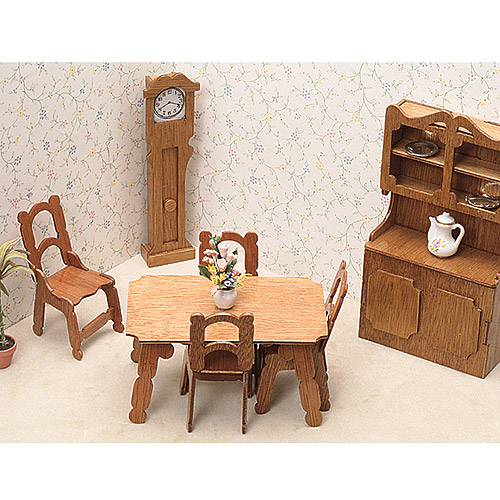 Dollhouse Furniture Kit, Dining Room