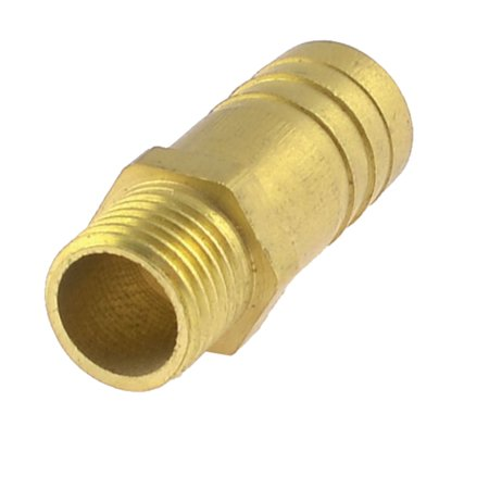 Brass Male Quick Connector (Unique Bargains 13mm 1/4