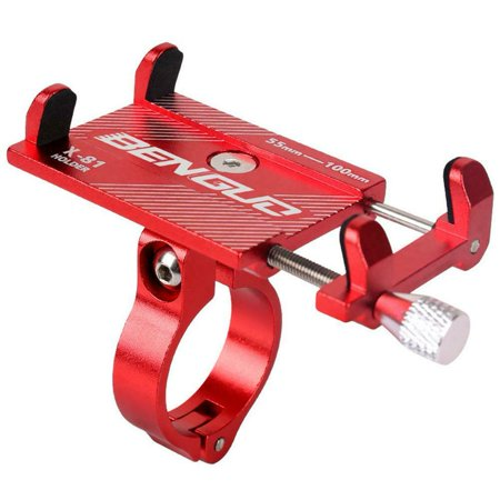 Universal Handlebar (Bike Bicycle Motorcycle Adjustable Handlebar Phone GPS Holder Stand Mount Universal Color:Red)