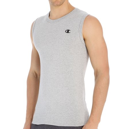 Champion T2231 Cotton Jersey Mens Muscle Tee Size Small - Oxford Grey Tired of flimsy T shirts Try this Champion mens muscle tee, built tough for lasting wear-Features- Soft, substantial cotton feels comfortable year round- Shape-keeping 1 x 1 ribbing reinforces neck and armholes- Full athletic fit guarantees ease of movement- Durable double-stitch trim resists raveling and rip-out- Tag free for itch-free comfort- Fabric Content- Solids - 100 cotton- Oxford Grey - 90 cotton10 polyester- Color - Oxford Grey- Size - Small SKU: HNSB25511