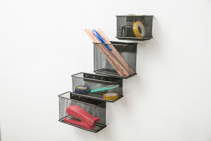 Pink Blue /& Purple Orange Yellow 6-Pack Emraw Magnetic Locker Storage Box Educational Accessories Holder Assorted Organizer Colors Included: Green