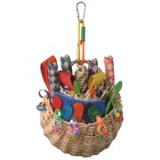 Super Bird Creations SB669 Foraging Basket Bird Toy, Multi-Color, Medium