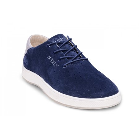 Aureus Mens Maximus Supreme Navy Blue Silver Sneakers 9 M Us