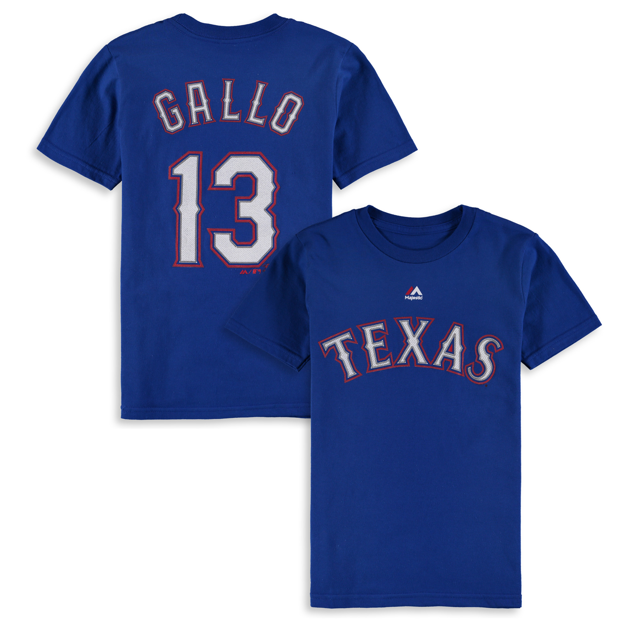 Joey Gallo Texas Rangers Majestic Youth Player Name & Number T-Shirt - Royal