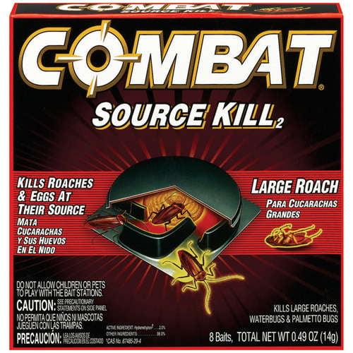 Combat Source Kill Large Roach Killing System, Child-Resistant Disc, 8/Box