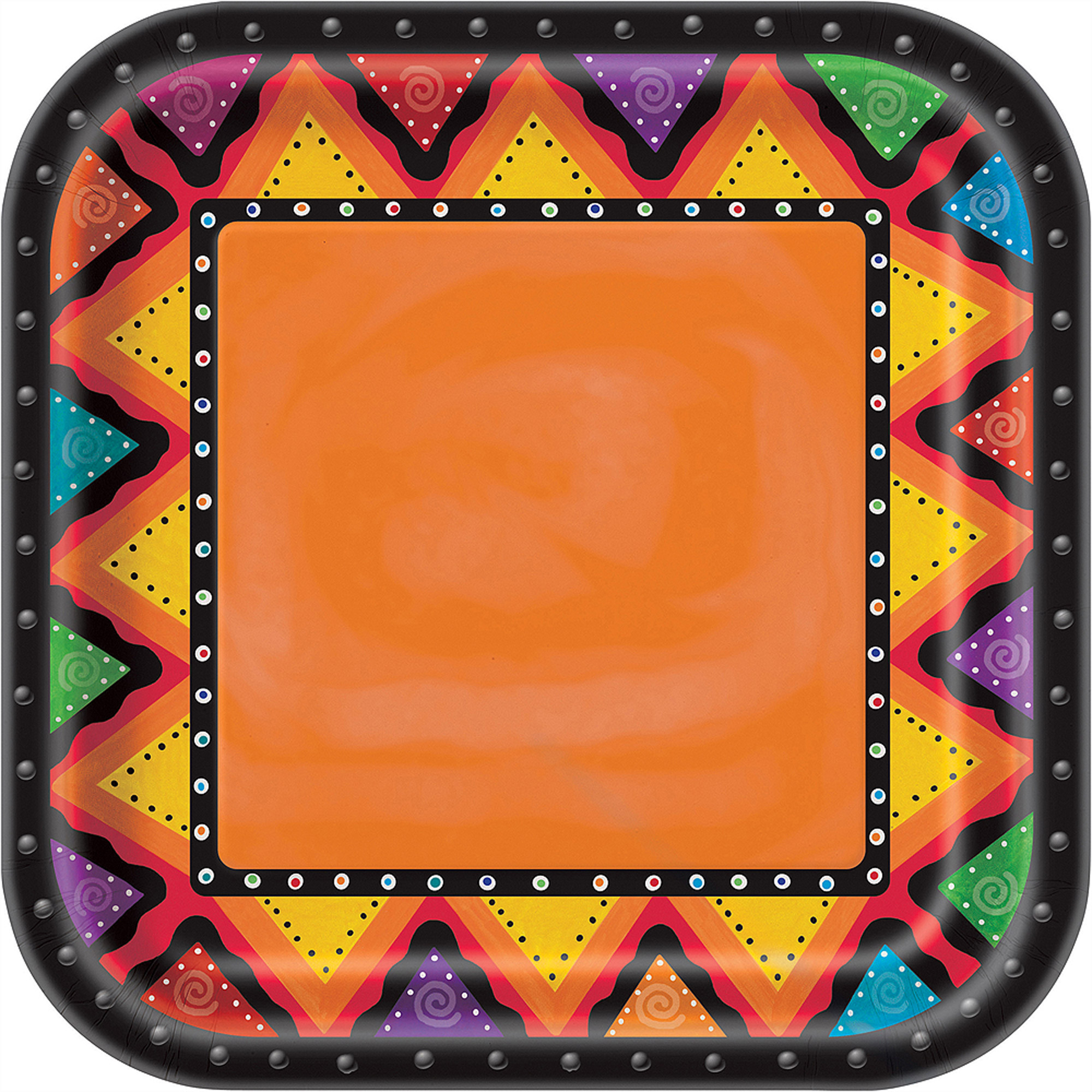 "9"" Fiestivity Square Paper Dinner Plates, 8ct"