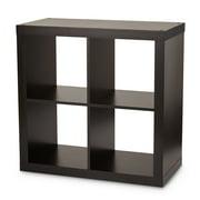 Better Homes & Gardens Square 4-Cube Organizer, Espresso