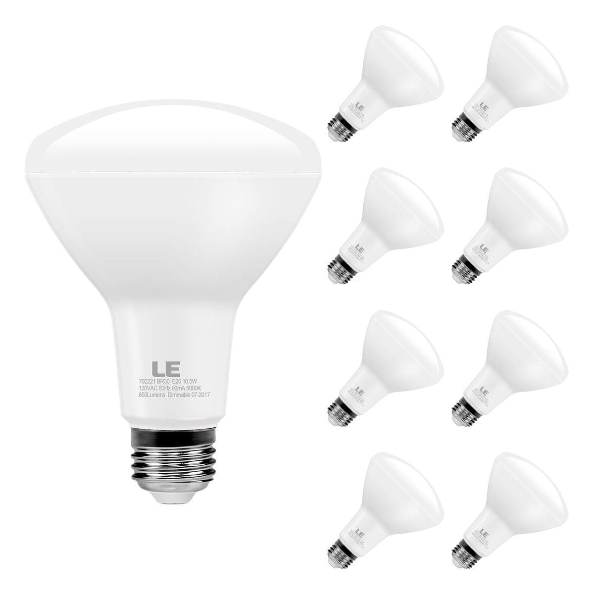 Lighting EVER 8 Pack LED Light Bulbs Dimmable 65W Equiv