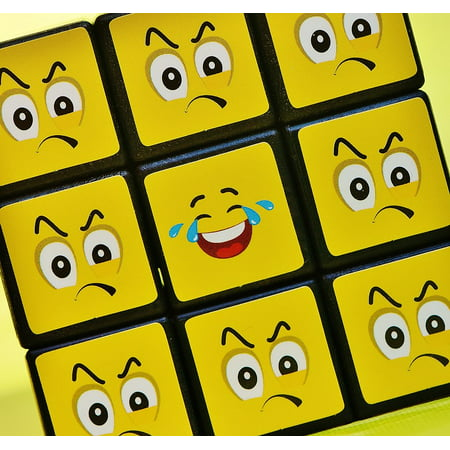 Halloween Smilies (LAMINATED POSTER Feelings Cube One Against All Smilies Funny Poster Print 24 x)