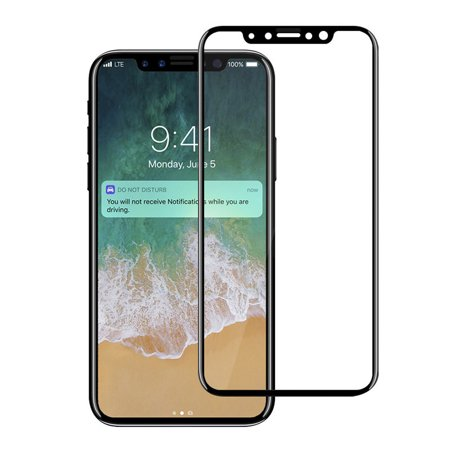 wholesale dealer 1bd6b 75d55 Apple iPhone X 10 Screen Protector, 3D Full Coverage, Edge to Edge Curved  Tempered Glass Screen Protector for Apple iPhone X 10 by Clambo [Scratch ...