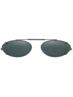 c81f595217 Product Image Visionaries Polarized Clip on Sunglasses - Almond - Black  Frame - 47 x 34 Eye