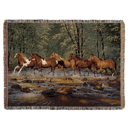 Cedar Run Throw (Spring Creek Run Full-Size Deluxe Tapestry Throw Blanket)