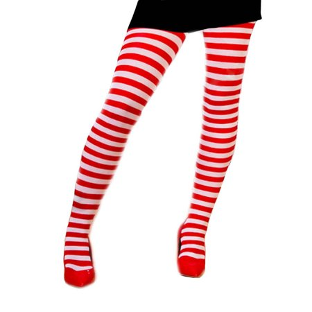 Striped Candy Cane Tights Pantyhose Hosiery