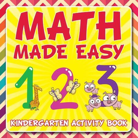 Math Made Easy : Kindergarten Activity Book - Halloween Literacy Activities For Kindergarten