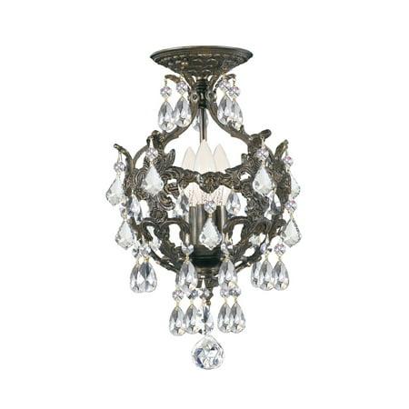 Crystorama 5193-EB-CL-S_CEILING Legacy Swarovski Strass Crystal Mini Chandelier
