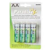Paradise Garden Lighting AA 600 mAh Solar Light Replacement Batteries - 4 Pack