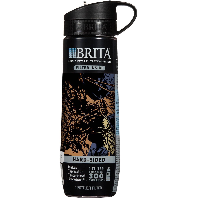 Brita Hard Sided Water Filter Bottle, Camo, 23.7 oz, BPA Free