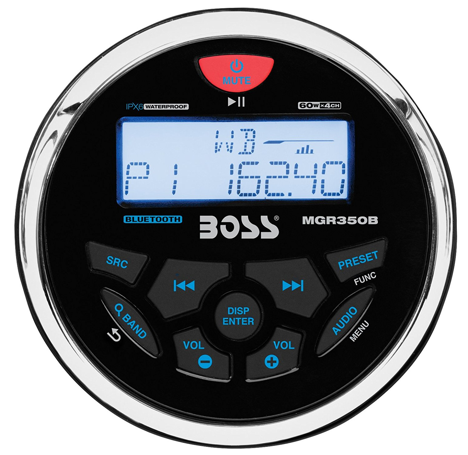 MGR350B In-Dash, Marine Gauge, Bluetooth, Digital Media MP3 / WMA / USB / AM/