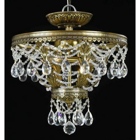 classic lighting contessa 3 light semi flush mount walmart com