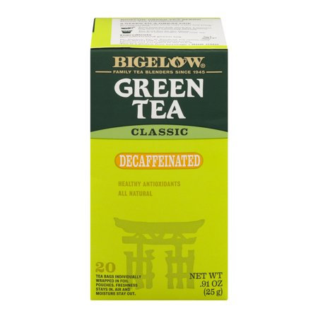 (3 Boxes) Bigelow® Green Tea Classic Decaffeinated Tea Bags .91 oz.