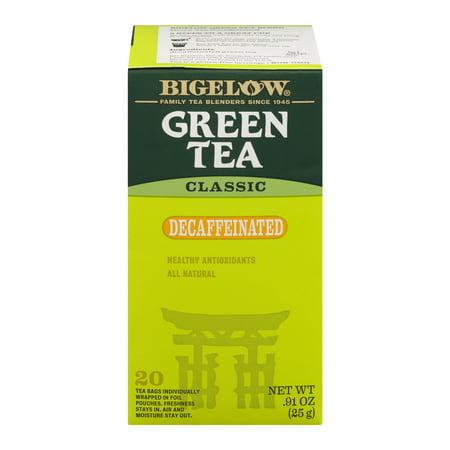 (3 Boxes) Bigelow® Green Tea Classic Decaffeinated Tea Bags .91 oz. Box ()