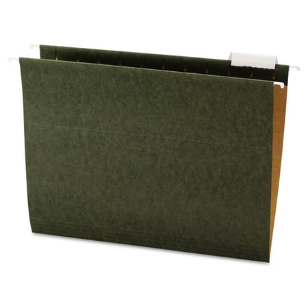 Office Impressions Hanging File Folders, 1/5 Tab, 11 Point Stock, Letter, Standard Green, 25/Box