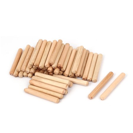 Woodworking Round Fluted Wood Wooden Craft Dowel Pins 8mm x 60mm 50 Pcs