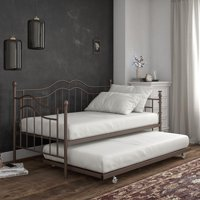 DHP Tokyo Metal Daybed and Trundle, Twin/Twin Size Frame, Bronze