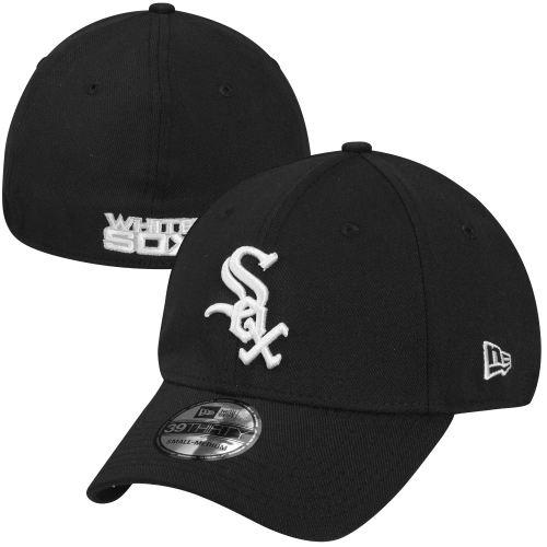New Era Chicago White Sox MLB Team Classic 39THIRTY Flex Hat - Black