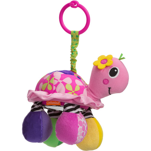 Infantino Topsy Turtle Mirror Pal, Pink