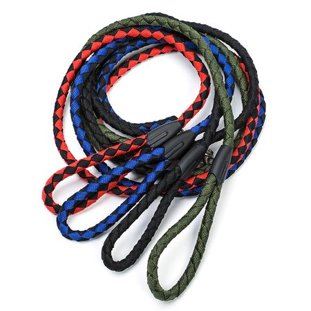 Nylon Dog Leash 5ft Long Walking Dog Rope Metal Clasp Dog Chain Traction Rope for Medium Dog Training Walking Outside - image 3 de 7