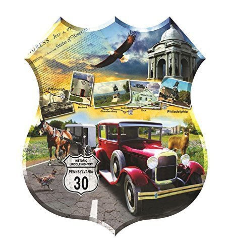 Sunsout Puzzle Company Lincoln Highway Multi-Colored