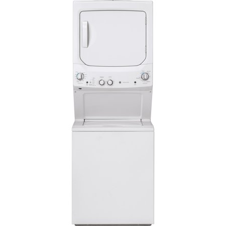 GE  Unitized Spacemaker 3.8 DOE cu. ft. Stainless Steel Washer and 5.9 cu. ft. Gas (Ge 7-2 Cu Ft Gas Dryer Reviews)