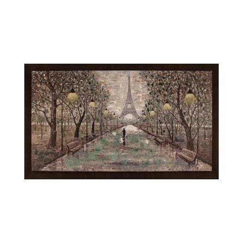 Hobbitholeco. Walk To Eiffel Tower by Anastasia C. Framed Painting