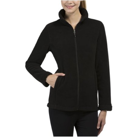 32 Degrees Heat Women's Sherpa Lined Fleece Jacket (Black, Medium)
