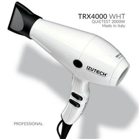 izutech ztrxbl01 trx4000 ac quietest fan speed salon dryer, white