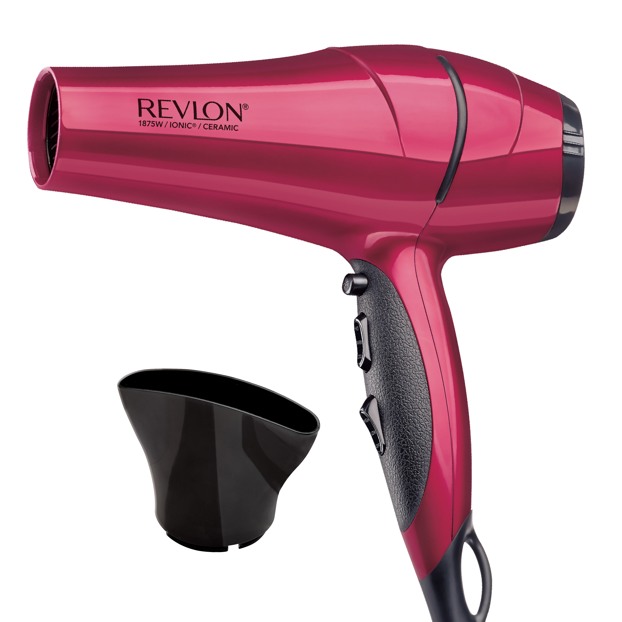 Revlon Perfect Heat® Frizz Fighter RVDR5191 Ionic Hair Dryer, Red with Concentrator